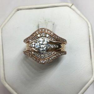 diamonds engagement ring rose gold